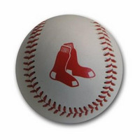 Blank Leather MLB Team Logo Baseballs - Boston Red Sox