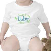 Sweet Baby Mine Butterflies Infant Creeper Shirt