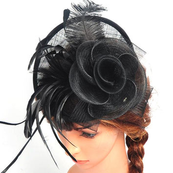 Women Chic Fascinator Hat Cocktail Wedding Party Church Headpiece Headband Headwear SM6