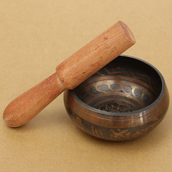 Yoga Tibetan Meditation Singing Bowl With Hand Stick Metal Crafts