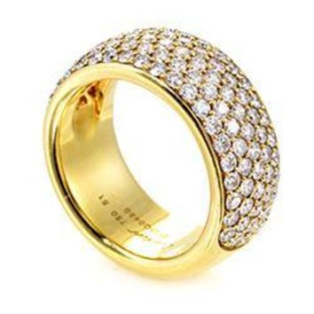 Cartier Yellow Gold Diamond Pave Band Ring