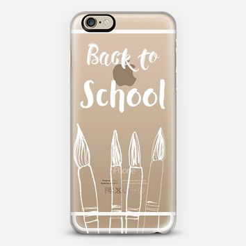 Back to School in white - crystal clear phone case iPhone 6 case by Nika Martinez | Casetify