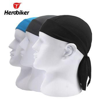HEROBIKER Motorcycle Face Mask Men Quick Dry Summer Motorcycle Skull Caps Helmet Balaclava Headwrap Bandana Face Shield Headband
