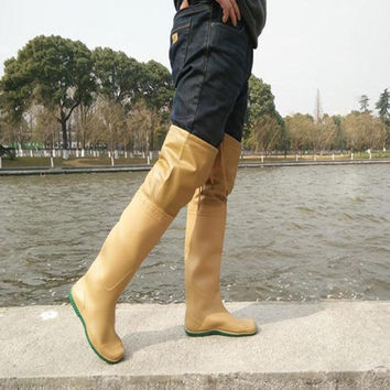 Hot Sale Mens Over the Knee Fishing Boots Rainboots Rubber Wellies - Fishing boots  rain boots