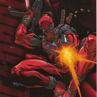 Deadpool Jump Marvel Comics Poster 22x34
