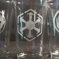 Old Republic Star Wars etch - pint glass - beer mug - shot glass