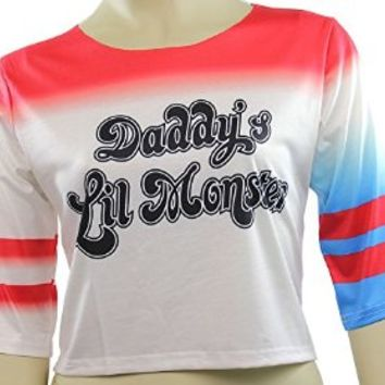 Harley Quinn T-shirt Daddy's Lil Monster Shirt Costume