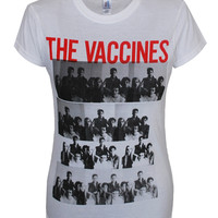 Ladies Repeat World Tour 2013 T-Shirt (White)   The official webstore for The Vaccines