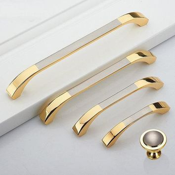 2.5'' 3.75'' 5'' 6.3'' Dresser Drawer Pulls Handles Knobs Gold Silver Brushed Nickel Steel Kitchen Cabinet Handles Furniture