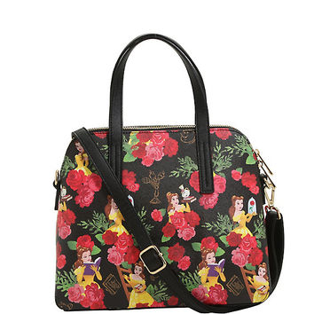 Loungefly Disney Beauty And The Beast Belle Floral Satchel