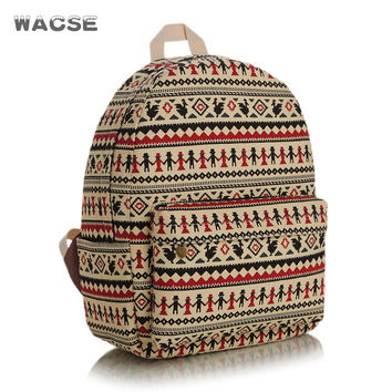 Casual Thicken Stylish Canvas Fashion Backpack = 4887758596