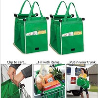 1 Packs Foldable Reusable Eco-friendly Cart Grocery Shopping Bags Shopping Bag for Supermarket Cart