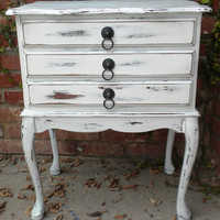 Sold (Can Make Similar for you) Custom Made Distressed French Provincial 3 Drawer Nightstand