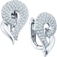 Diamond Fashion Earrings in 14k White Gold 1.25 ctw