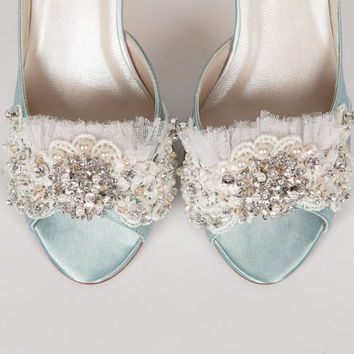 Marie Antoinette Wedding Shoes - Lace Wedding Shoes - Custom Pastel Wedding Shoes - Bespoke Wedding Shoes By Arbie Goodfellow For Parisxox