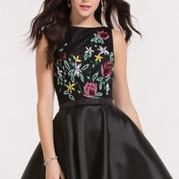 Alyce 3748 Floral Bodice Dress with Bow Detailing Belt