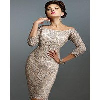 Gorgeous Designer Lace Cocktail Dresses robe cocktail 2016