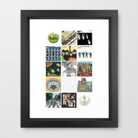 The Beatles Cover Project Framed Art Print by danilo agutoli