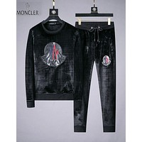 Moncler Winter Fashion Men Women Warm Sweater Top Pants Trousers Set Two-Piece Sportswear