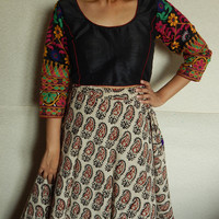 Blouse, Ethnic Crop Top, Embroidered Blouse