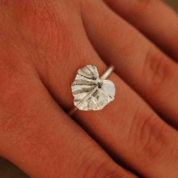Lotus Leaf Ring by TeriLeeJewelry on Etsy