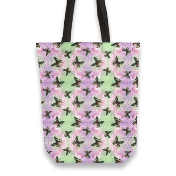 Urania ripheus butterfly watercolor pattern Totebag by Savousepate from €25.00 | miPic