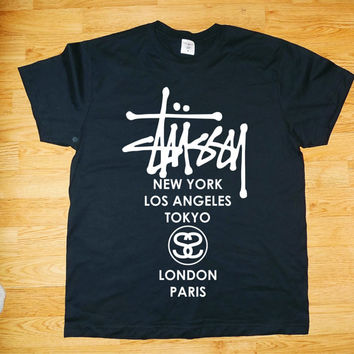 Stussy t-shirt NY London Par LA World Tour tribe asap_hba_pyrex_yeezy_been trill