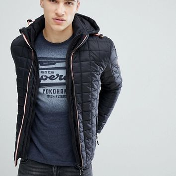 Superdry Puffer Jacket With Hood at asos.com