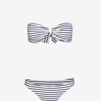 MELISSA ODABASH EXCLUSIVE STRIPED BANDEAU BIKINI