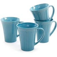 Pioneer Woman Paige 4-Piece Transparent Glaze Mug Set - Walmart.com