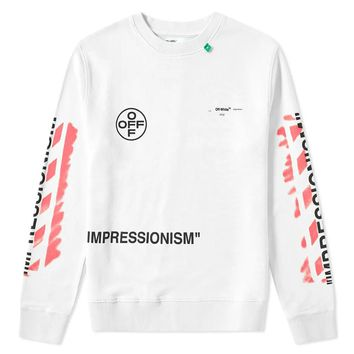 White & Pink Crewneck by OFF-WHITE