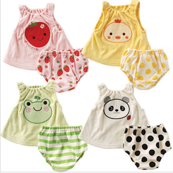 Sexy Beach Comfortable Hot Stylish Bralette Summer Children Set Fruits Cartoons Vest [4919770116]