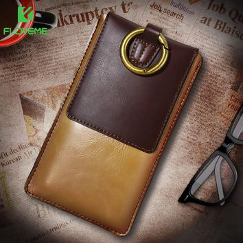 FLOVEME Universal PU Leather Phone Case For iPhone 7 8 Plus Luxury 360 Full Protect Mobile Phone Cover For iPhone 6 6S Plus Capa