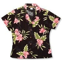 midnight hawaiian lady blouse