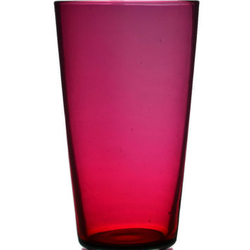 Cranberry Red Whisky Tumbler Glasses, Antique English, Early 1900s