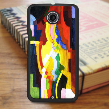 August Macke Abstract Cubist Painting Art Nexus 6 Case