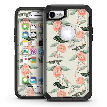 The Coral Flower and Hummingbird on Branches - iPhone 7 or 7 Plus OtterBox Defender Case Skin Decal Kit