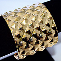 Studded Cuff Bracelet(Silver Also Available)