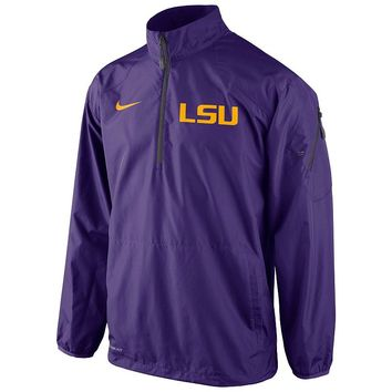 Nike LSU Tigers Lockdown Half-Zip Storm-FIT Performance Jacket - Men