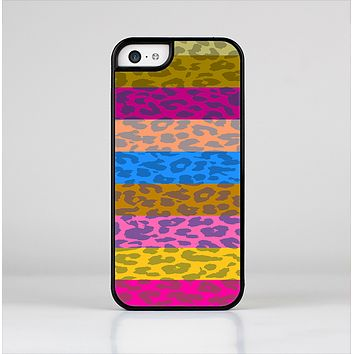The Neon Striped Cheetah Animal Print Skin-Sert Case for the Apple iPhone 5c