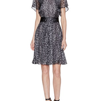 Giambattista Valli Women's Silk Floral Grosgrain Flared Dress -