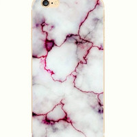 iPhone 6 Case Marble iPhone 6 Soft Case Granite Pattern Silicone Cover For iPhone 6 Slim Design Case Marble Pink