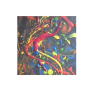 abstract paint tube