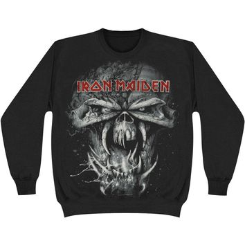 Iron Maiden Men's  Final Frontier Eddie Sweatshirt Black