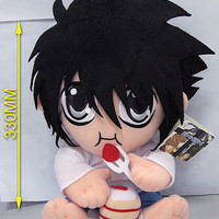 """Death Note: """"Plush - L Eating Cake 12in (30cm)"""" : TokyoToys.com: UK Based e-store, Anime Toys Retail & Wholesale, Manga Action Figures,  Hentai Statues, Japanese Snacks, Pocky, DVDs, Gashapon,  Cosplay, Monkey Shirt, Final Fantasy, Bleach, Naruto, Death No"""