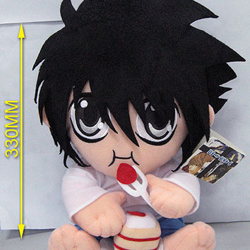 "Death Note: ""Plush - L Eating Cake 12in (30cm)"" : TokyoToys.com: UK Based e-store, Anime Toys Retail & Wholesale, Manga Action Figures,  Hentai Statues, Japanese Snacks, Pocky, DVDs, Gashapon,  Cosplay, Monkey Shirt, Final Fantasy, Bleach, Naruto, Death No"