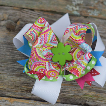 "Layered 6"" Bow by Mandy Lou {Several Colors Available}"