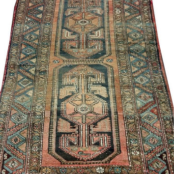 ON SALE Vintage Turkish Oushak Rug 91x 49inches Free Shipping