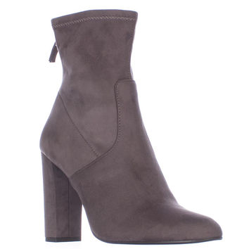 Steve Madden Brisk Stretch Ankle Booties, Grey, 10 US