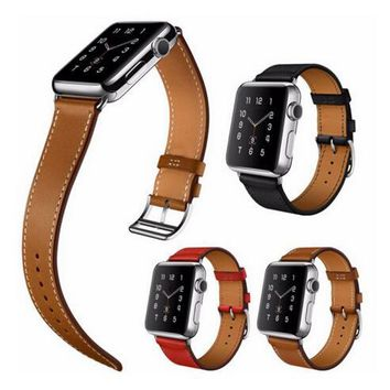 YIFALIAN Series 2/1 Series 2/1 Genuine Leather Loop Watch Band for Apple Watch 38/42mm Cuff Bracelet Single Tour Strap